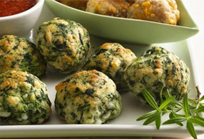 Simply-SUFI-Cheese-Balls-with-steamed-spinach